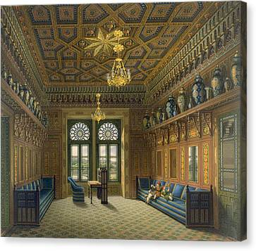 Villa Canvas Print - Design For The Grand Reception Room by Karl Ludwig Wilhelm Zanth