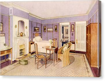 Design For The Interior Of A Bedroom Canvas Print