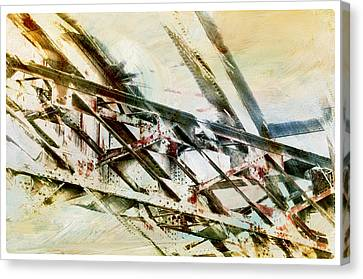 Design In Steel Canvas Print by Davina Washington