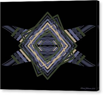 Canvas Print featuring the digital art Design Time Thinking by Brian Johnson