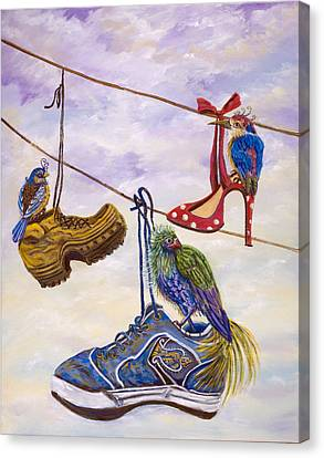 Designer Bird Nests Canvas Print by Susan Culver
