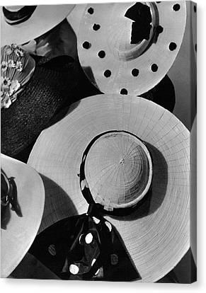 Designer Cartwheel Hats Canvas Print