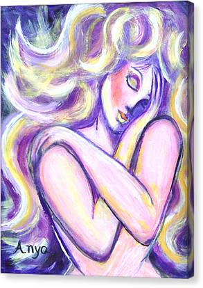 Canvas Print featuring the painting Desire by Anya Heller