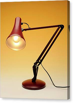 Desk Lamp Canvas Print by Public Health England