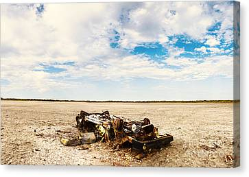 Desolate Desert Wasteland. Deception Bay Canvas Print by Jorgo Photography - Wall Art Gallery