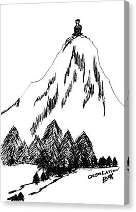 Desolation Peak_alone Time Canvas Print by Donna Haggerty