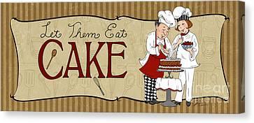 Desserts Kitchen Sign-cake Canvas Print