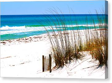 Shower Canvas Print - Destin, Florida by Monique's Fine Art