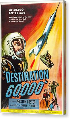Destination 60,000, Us Poster, Preston Canvas Print by Everett