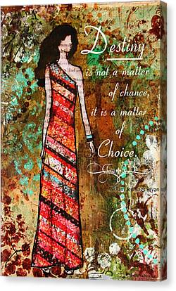 Destiny Inspirational Christian Art Canvas Print by Janelle Nichol