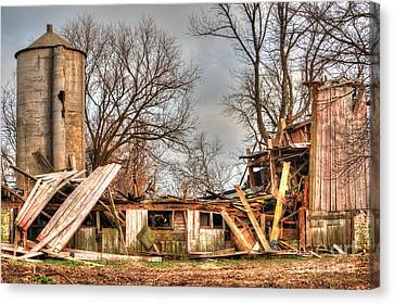 Destruction Barn Canvas Print by Deborah Smolinske