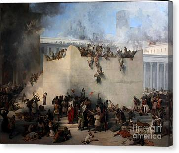 Destruction Of The Temple Of Jerusalem Canvas Print by Celestial Images