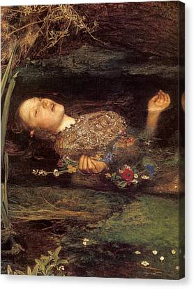 Detail From Ophelia Canvas Print by Philip Ralley