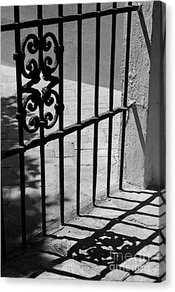 Canvas Print featuring the photograph Detail Of Gate In Seville by Cendrine Marrouat