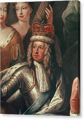 Detail Of George I From The Painted Hall, Greenwich Canvas Print by Sir James Thornhill