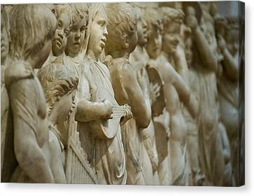 Detail Of Marble Relief, Florence Canvas Print by Panoramic Images