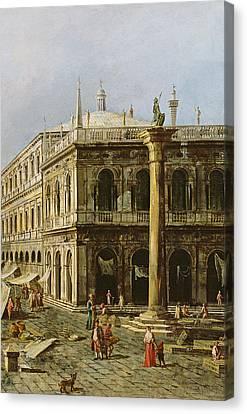 Detail Of Palazzo Della Zecca Canvas Print