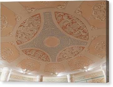 Detail Of The Conference Room Ceiling Canvas Print by Panoramic Images