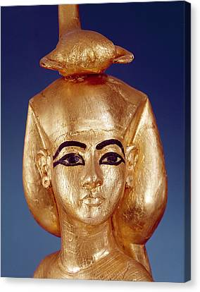 Detail Of The Goddess Selket From The Canopic Shrine, From The Tomb Of Tutankhamun Canvas Print