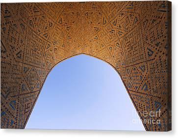 Detail Of The Kalon Mosque At Bukhara In Uzbekistan Canvas Print by Robert Preston