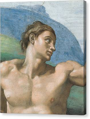 Detail Of The Vault Canvas Print by Michelangelo