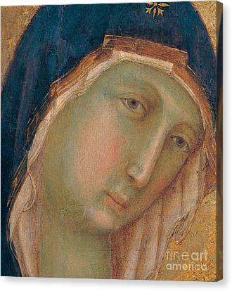 Detail Of The Virgin Mary Canvas Print by Duccio di Buoninsegna