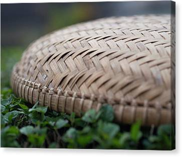 Detail Of Woven Basket In Hoi An Canvas Print