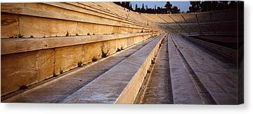 Detail Olympic Stadium Athens Greece Canvas Print by Panoramic Images