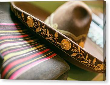 Detail On The Brim Of A Hat, Santa Fe Canvas Print by Julien Mcroberts