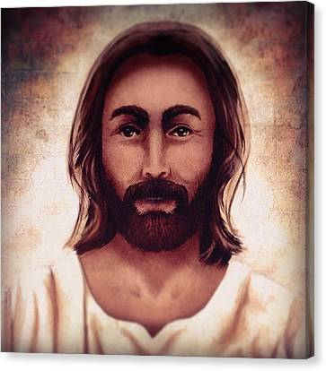 Portraits Canvas Print - Portrait Of Jesus by April Moen