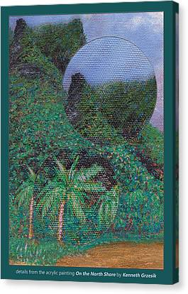 Details From On The North Shore Canvas Print by Kenneth Grzesik