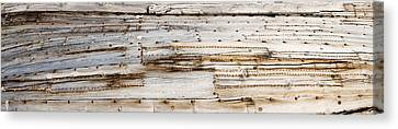 Details Of An Old Whaling Boat Hull Canvas Print by Panoramic Images