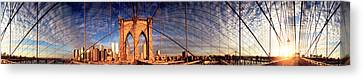 Details Of The Brooklyn Bridge, New Canvas Print by Panoramic Images