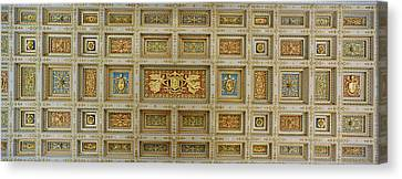Details Of The Ceiling Of A Basilica Canvas Print by Panoramic Images