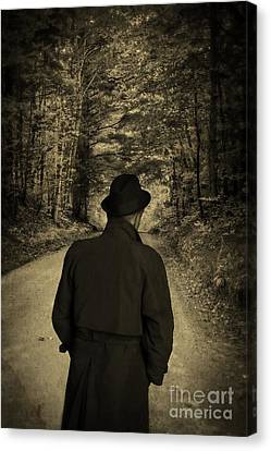 Hard-boiled Detective Novel Canvas Print by Edward Fielding