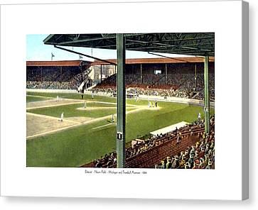 Detroit - Navin Field - Detroit Tigers - Michigan And Trumbull Avenues - 1914 Canvas Print