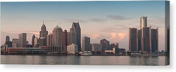 Detroit At Dusk Canvas Print by Andreas Freund