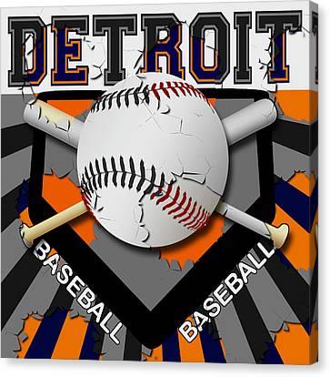 Detroit Baseball  Canvas Print by David G Paul