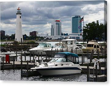 Detroit Boat Docks Canvas Print