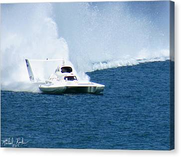 Detroit Gold Cup Hydroplane Race Canvas Print by Michael Rucker
