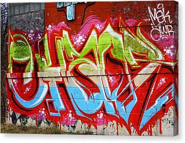 Detroit Graffiti Canvas Print