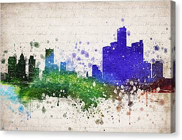 Detroit In Color Canvas Print by Aged Pixel