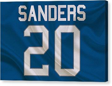 Detroit Lions Barry Sanders Canvas Print by Joe Hamilton
