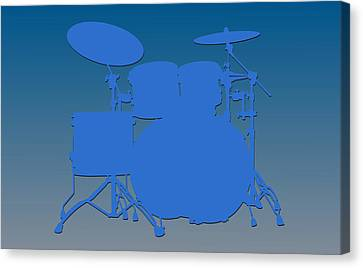Detroit Lions Drum Set Canvas Print by Joe Hamilton
