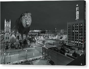 Detroit Lions Canvas Print by Nicholas  Grunas