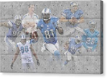 Detroit Lions Team Canvas Print