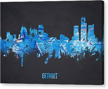 Theatre Canvas Print - Detroit Michigan Usa by Aged Pixel