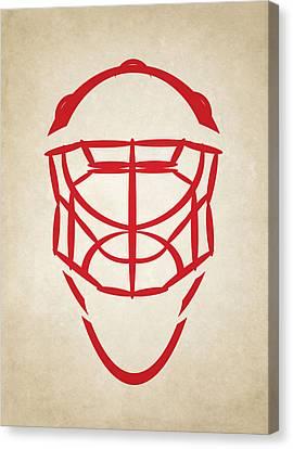 Detroit Red Wings Goalie Mask Canvas Print by Joe Hamilton