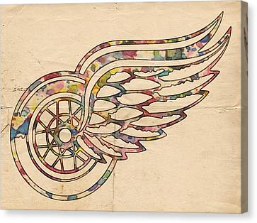 Detroit Red Wings Poster Art Canvas Print