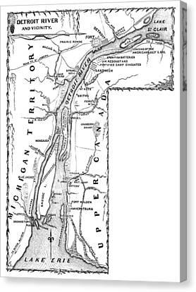 Detroit River, 1812 Canvas Print by Granger